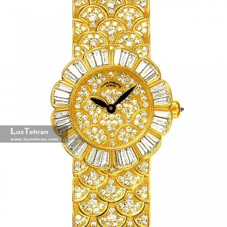 ساعت مچی زنانه زرد طلایی استیل برند پاتک فیلیپ گوندولو