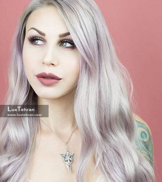 رنگ مو دودی با رنگ موی گل رزی
