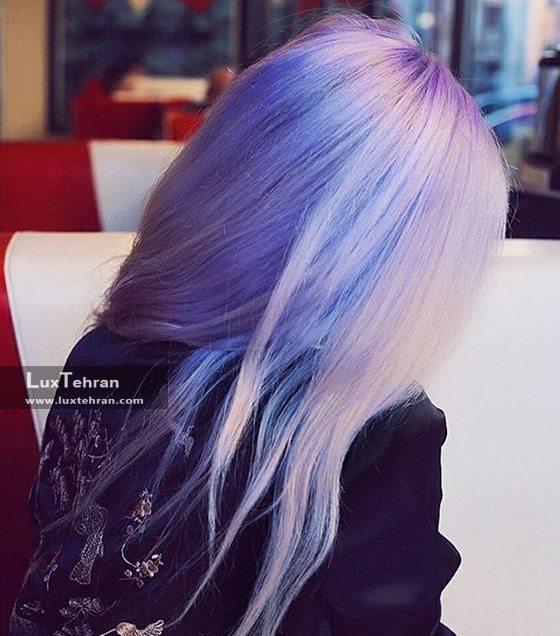 رنگ مو دودی و با تم ارغوانی