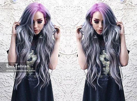 رنگ مویی دخترانه با رنگ مو دودی پری دریایی