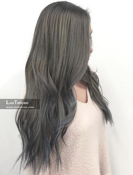 خاص ترین رنگ مو از خانواده دودی ها ؛ رنگ مو دودی خاکستری
