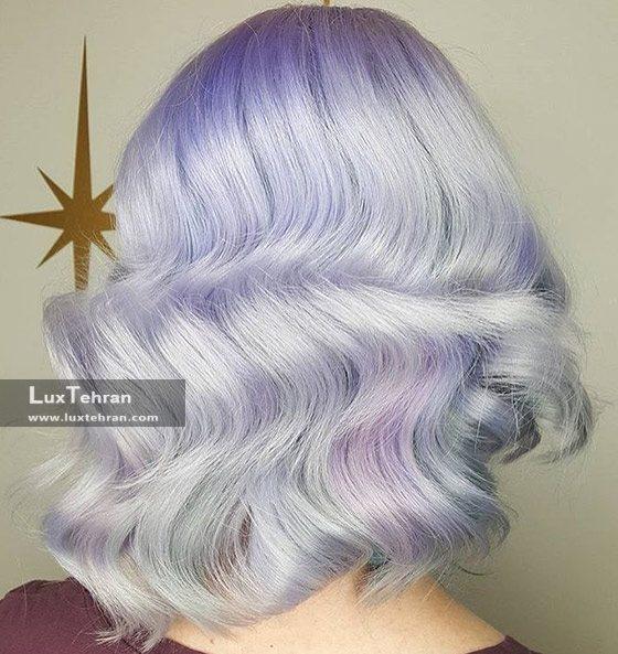 ترکیب رنگ موی لوندر با خاکستری