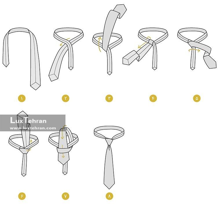 آموزش نحوه بستن کراوات گره الدریج