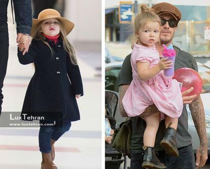 عکس دیوید بکهام و دخترش ؛ مصاحبه و گزارشی خواندنی از معروف ترین خانواده دنیای مد