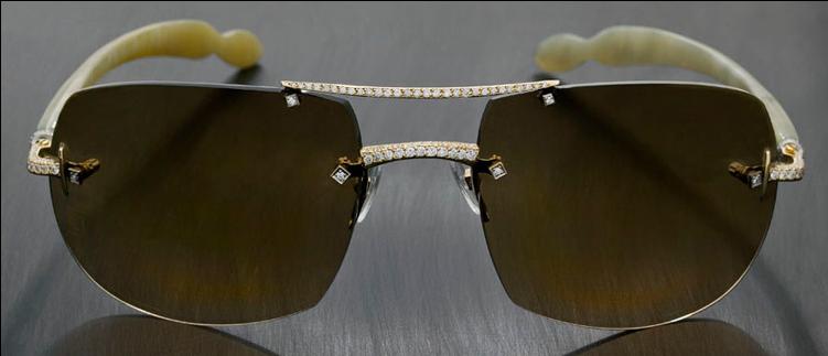 گرانترین عینک آفتابی الماس نشان