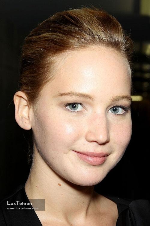 جنیفر لارنس زیبایی صورت بدون آرایش