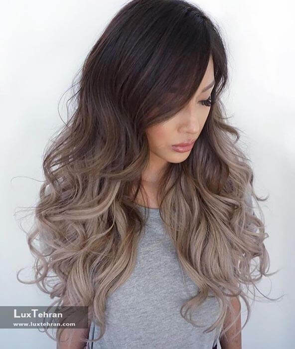 مدل رنگ مو امبره روشن