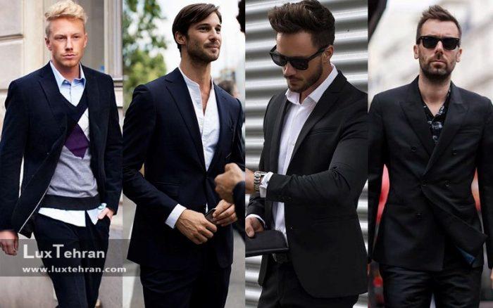 قوانین کلی برای پوشیدن کت و شلوار مشکی
