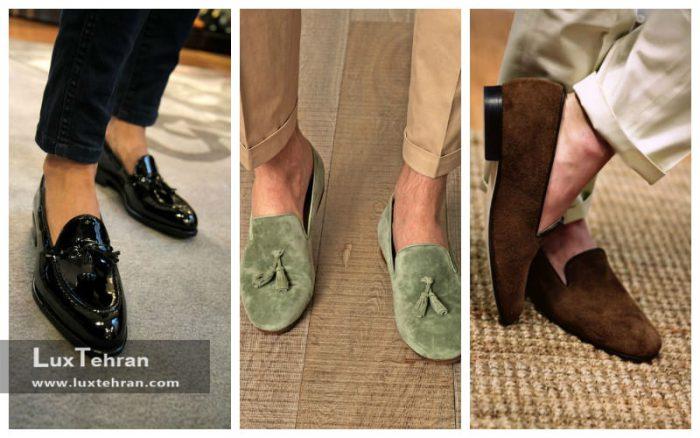 جنس کفش کالج مردانه