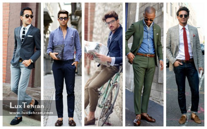 رنگ کفش کالج مردانه