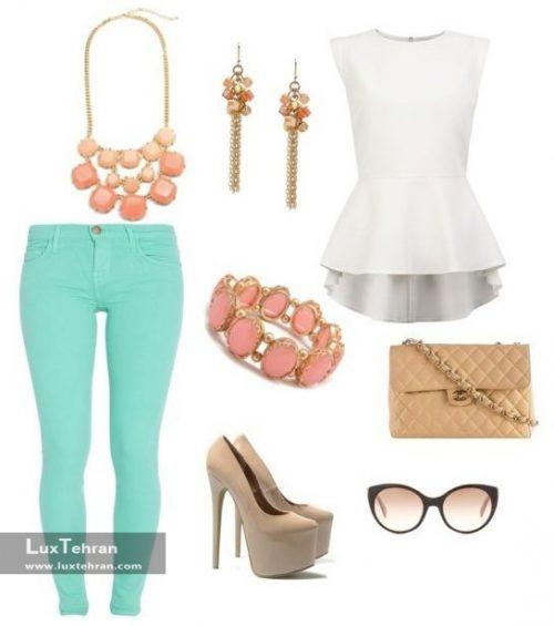 ده ست بهاره با استفاده از شلوار زنانه رنگی ( شلوار زنانه رنگی با چی بپوشم ؟ )