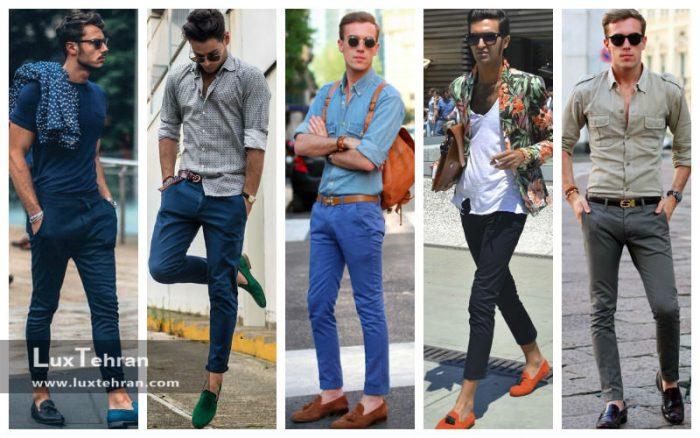 ست کردن کفش کالج مردانه