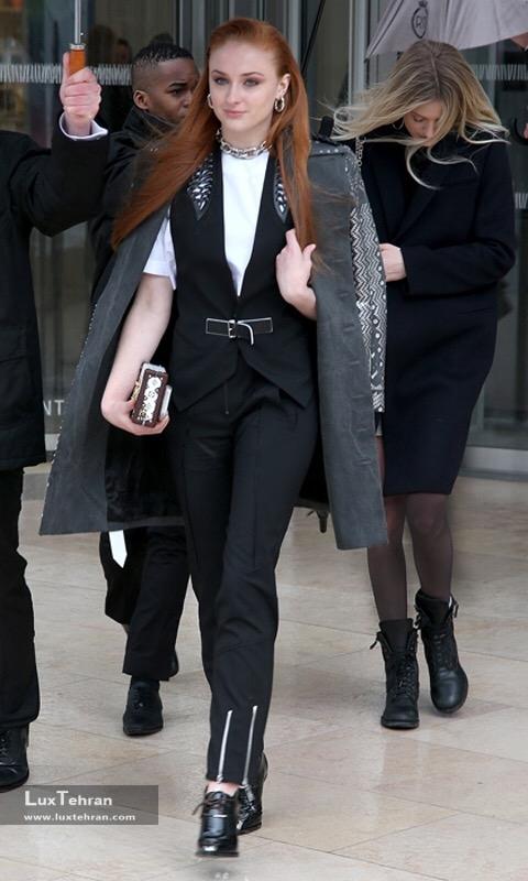 سوفی ترنر ستاره گیم آو ترونز و چهره نوظهور فرش قرمز Sophie Turner