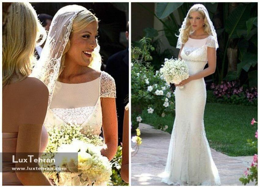 لباس عروس توری اسپلینگ