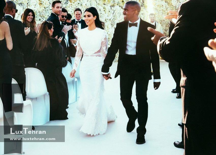 کیم کارداشیان با گرانترین لباس عروس جهان