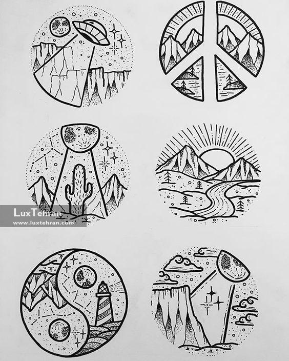 طرح های اولیه از نقش تاتو