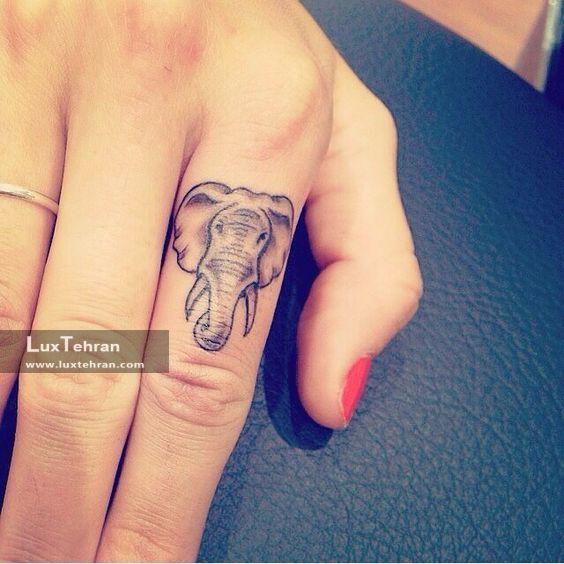 نقش حنا روی انگشت