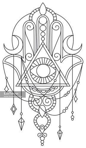 طرح اولیه و روی کاغذ تاتو یا حنا