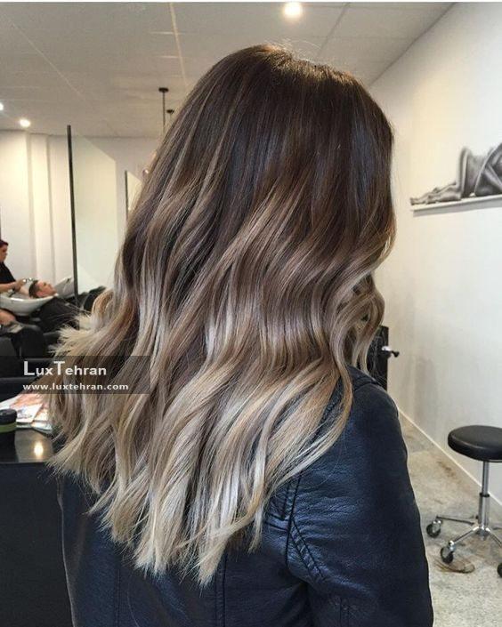 رنگ مو خاکستری نسکافه ای قهوه ای