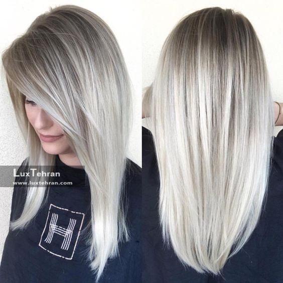 رنگ مو دودی روشن (استخوانی)