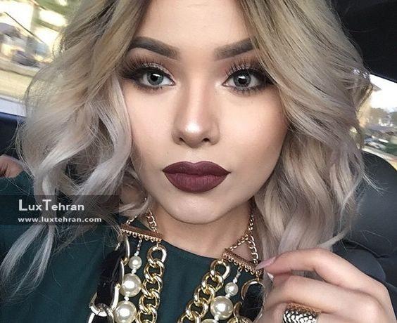 مدل رنگ مو دودی روشن بلوند و نسکافه ای روشن