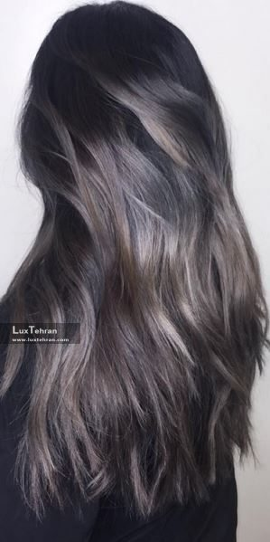 رنگ موی دودی بدون دکلره