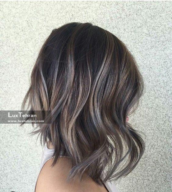 رنگ موی خاکستری با سایه های طلایی