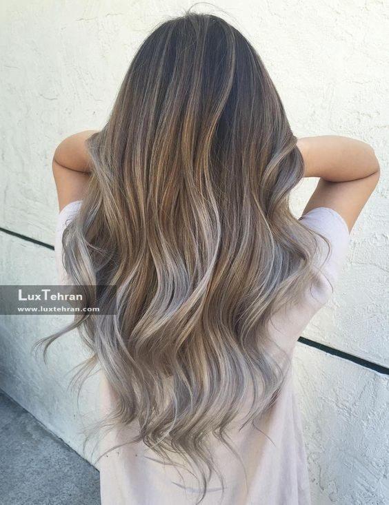 رنگ موی دودی زیتونی امبره