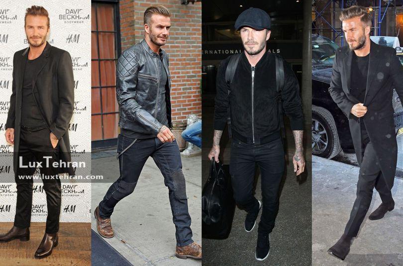 شیک پوشی به سبک دیوید بکهام David Beckham + عکس دیوید بکهام در استایل های مختلف