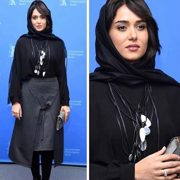 مدل مانتو مشکی بازیگران زن ایرانی