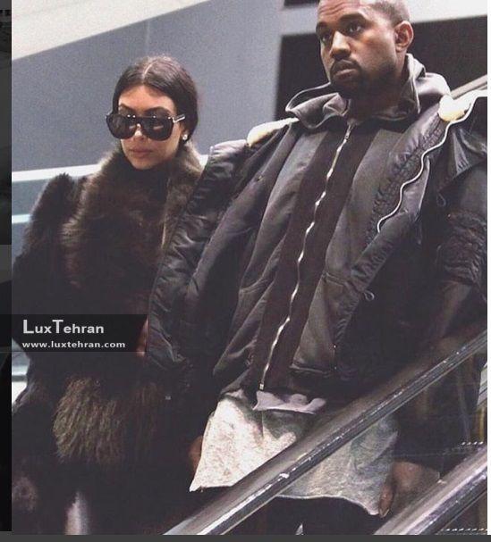 کیم کارداشیان و همسرش در استایل زمستانی