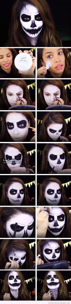 آرایش ترسناک صورت برای هالووین
