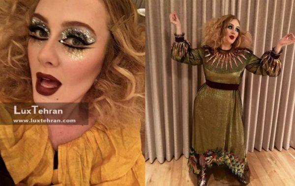 ادل خواننده در لباس هالووین