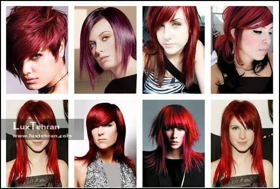 مدل های رنگ موی شرابی