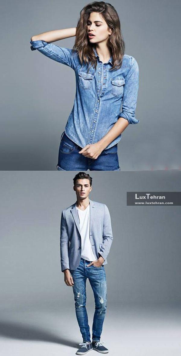 جنس جین در لباس مردانه و زنانه و رنگ جین