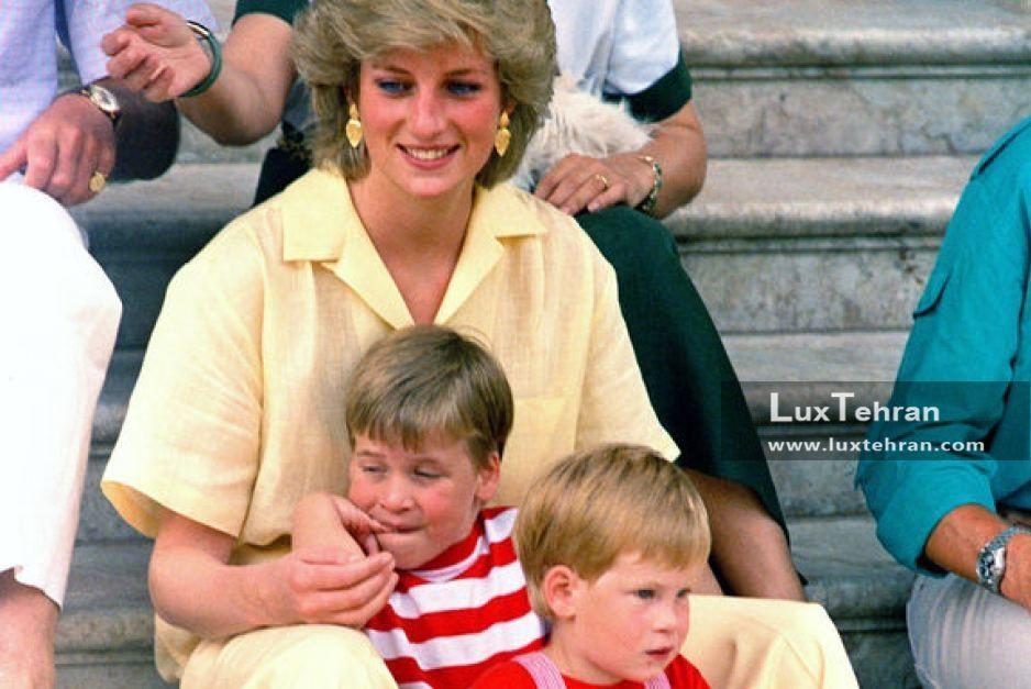 پرنس ویلیام و پرنسس دایانا فقید در سال ۱۹۸۷ میلادی