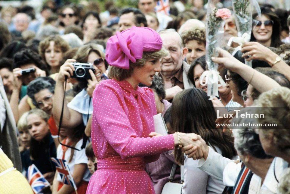 هواداران شاهدخت ولز او را با گل و عکس و دست دادن