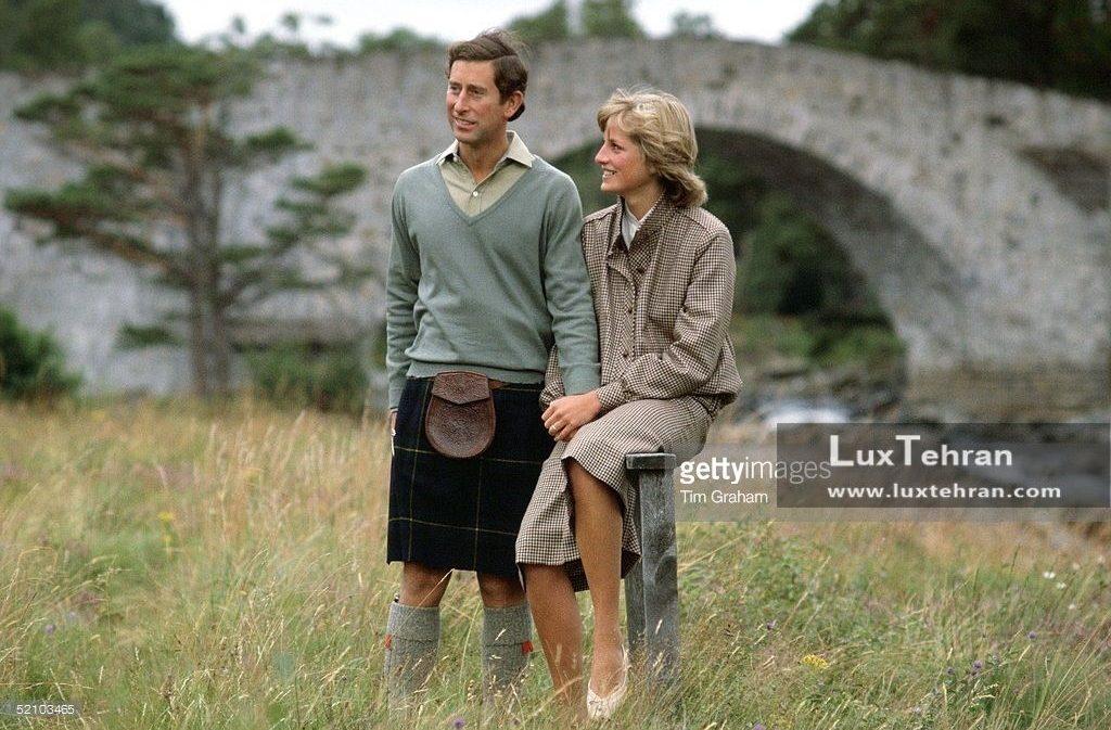 تصویری از پرنسس دایانا و پرنس چارلز در زمان ماه عسل در منطقه River Dee