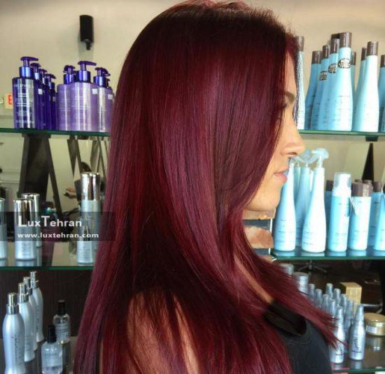 رنگ موی شرابی بادمجونی