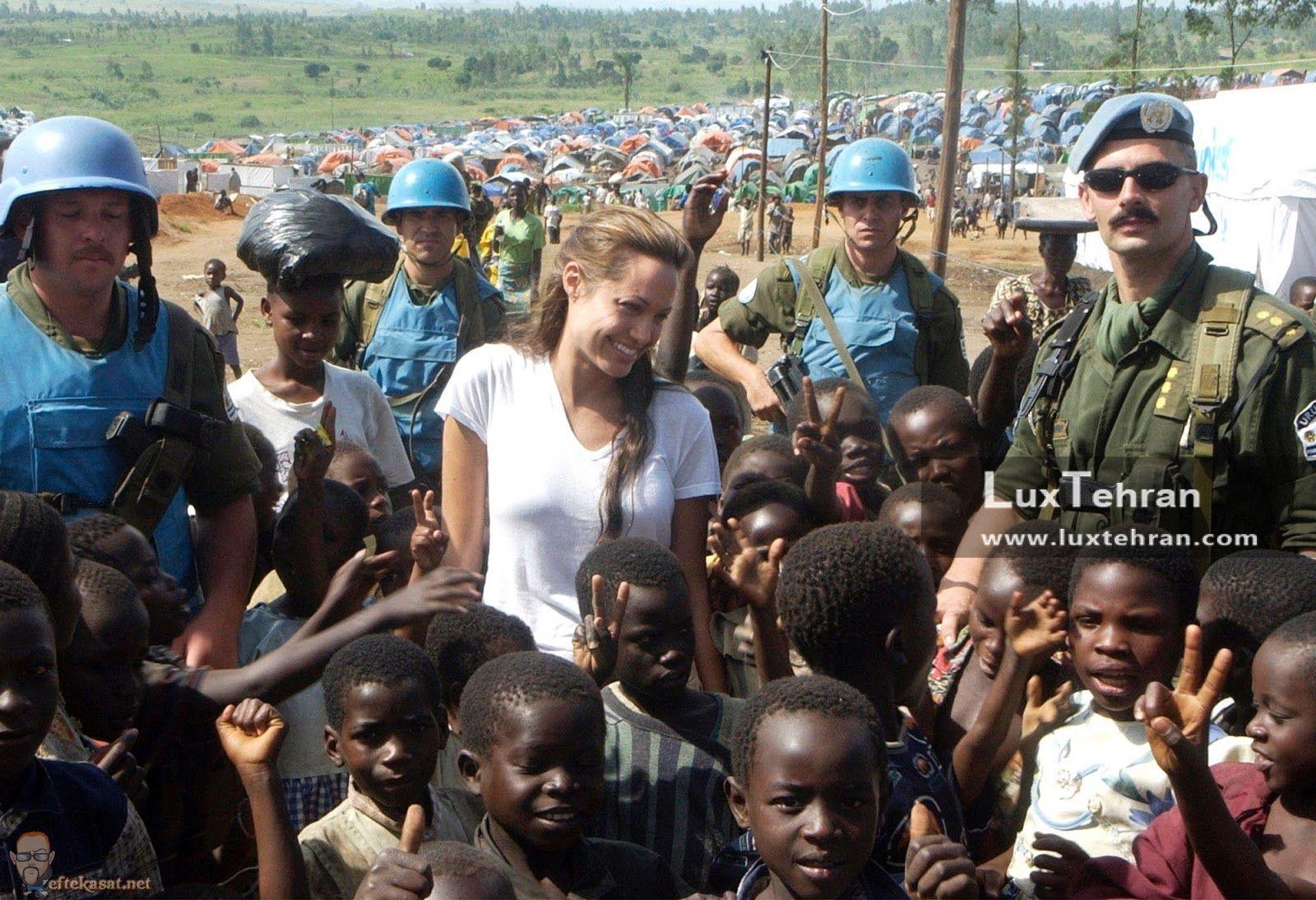 سفر آنجلینا جولی به کشور کنگو در قاره آفریقا