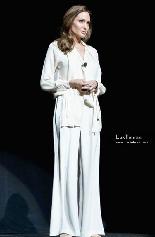 کلکسیون لباس های سفید رنگ غیر شب آنجلینا جولی