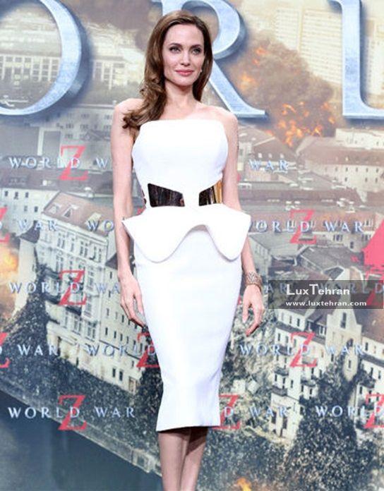 لباس های شیک و سفید آنجلینا جولی که با طرح خاصی از برند Ralph & russo