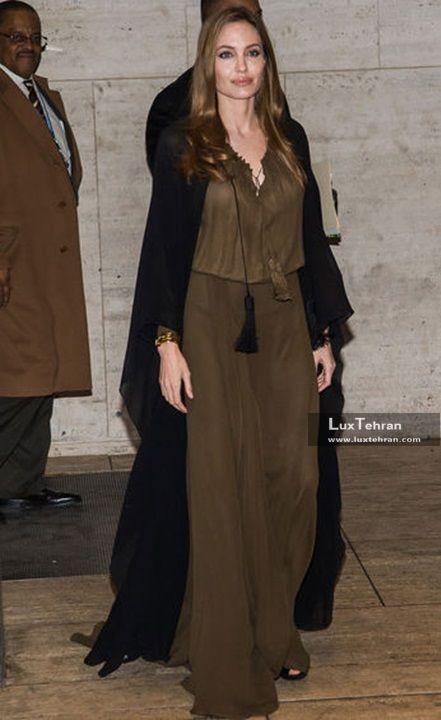 طرحی از کلکسیون مد و لباس آنجلینا جولی از برند سنت لارن