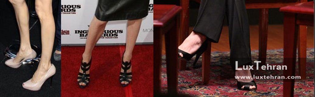 تصویر برخی از کفش های پاشنه بلند آنجلینا جولی