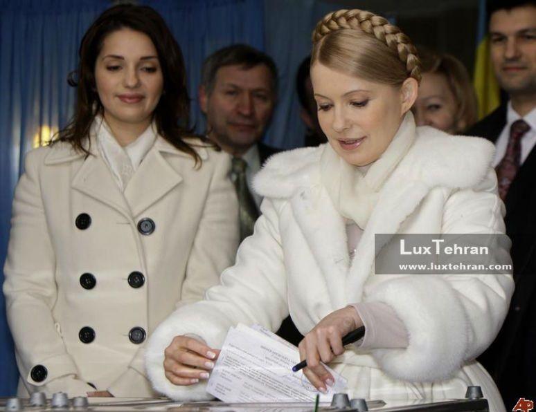 تصویر استایل زمستانی خانم یولیا تیموشنکف با پالتوی پشمی  زنان سیاستمدار جهان