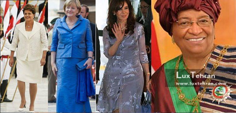 زنان سیاستمدار جهان (از راست به چپ: الن حانسون (رهبر لیبریبا) – کریشنا (رهبر سابق آرژانتین) – آنجلا مرکل (صدر اعظم آلمان) – دیلما روسف (رییس جمهور برزیل)