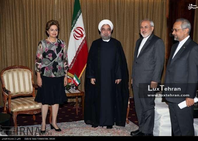دیدار حسن روحانی، رییس جمهور ایران  با دیلما روسف رییس جمهور سابق برزیل زنان سیاستمدار جهان