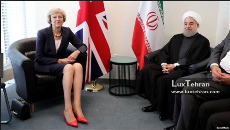 (تصویر دیدار حسن روحانی، رییس جمهور ایران با نخست وزیر انگلیس  زنان سیاستمدار جهان
