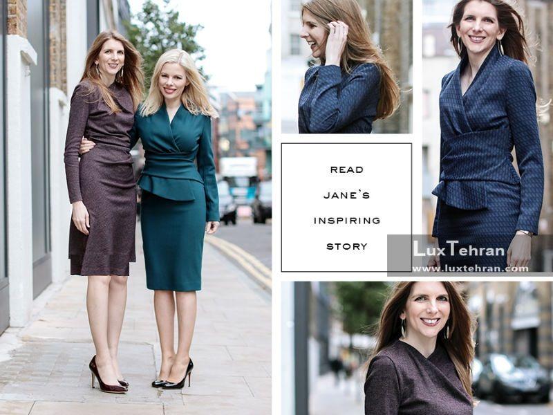 تصویری از لباس های یقه بسته آستین بلند خانم جین
