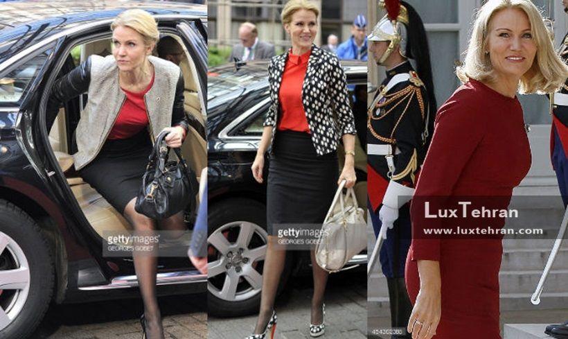 صویری از کلکسیون مد و لباس خانم نخست وزیر دانمارک در ۳ قاب زنان سیاستمدار جهان